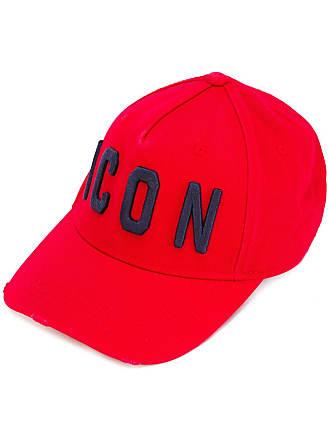 Dsquared2 Boné com bordado ICON - Vermelho 0dbd4d79d17