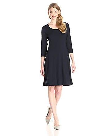 Karen Kane Womens Three-Quarter Sleeve A-Line Dress, Navy, X-Small