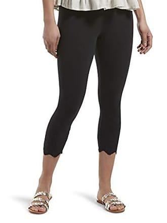 Hue Womens Fashion Cotton Capri Leggings, Assorted, eyelet trim/black, XL