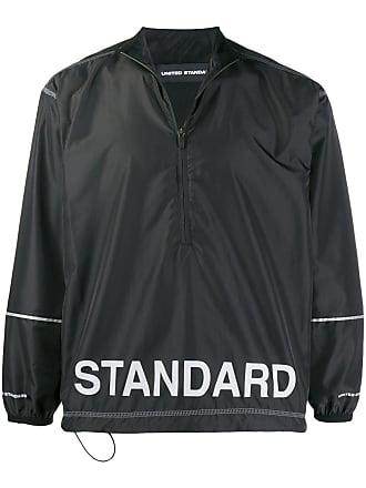 United Standard Jaqueta corta-vento com estampa de logo - Preto