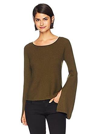 Ramy Brook Womens Audrina Dramatic Sleeve Sweater, Urban Green, Small