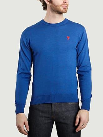 Ami Blauer klassischer königlicher Wollpullover mit rundem Halsausschnitt - wool | royal blue | Size M - Royal blue