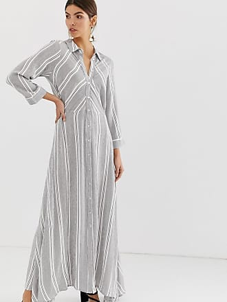Y.A.S cotton stripe maxi shirt dress - Multi