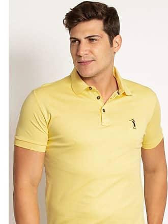 Aleatory Camisa Polo Aleatory Lisa Algodão Pima Amarela-Amarelo-P