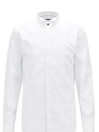 99e44438 BOSS Slim-fit dress shirt in easy-iron Austrian cotton