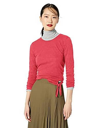 J.crew Womens Long Sleeve Tee with Tie, Rusted red, L
