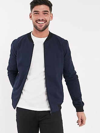 New Look lightweight cotton bomber jacket in navy