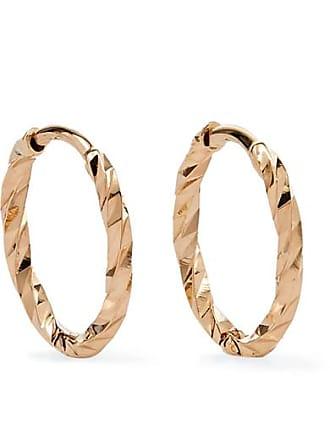 Maria Black Huggie 14-karat Gold Hoop Earrings
