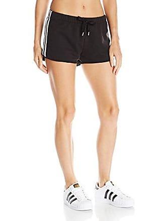 adidas Originals Womens Bottoms Slim Shorts, Black/White X-Large