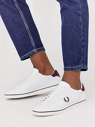 Fred Perry Deuce leather sneakers in white - White
