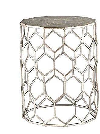 Southern Enterprises Clarissa Honeycomb Accent Table - Antique Silver Frame - Geometric Design