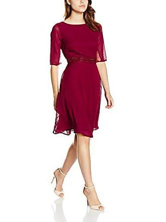 8c26f6693cfbe2 Elise Ryan Damen Kleid Chiffon Skater Rot (Berry) 38