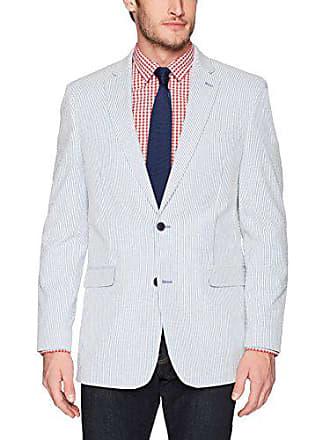 70b2c1a4c Tommy Hilfiger Mens Trevor Single Breast 2 Button Blazer, Blue/White Stripe,  42