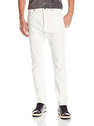 Zanerobe Mens Low Blow Five-Pocket Comfort Stretch Jean, White, 32