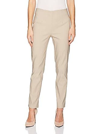 Tribal Womens Flat Front Ankle Pant, Mink 2