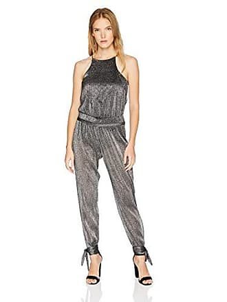 0be795fed0a1 Halston Heritage Womens Sleeveless High Neck Jumpsuit with Ankle Ties