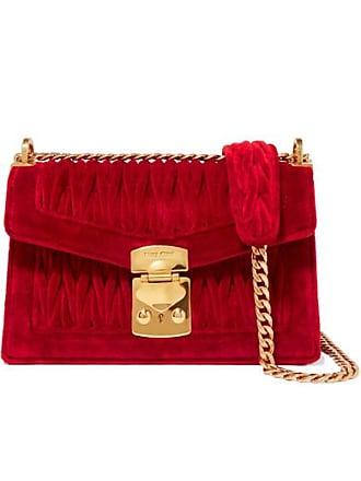 79de22dec471 Miu Miu Confidential Matelassé Velvet Shoulder Bag - Red