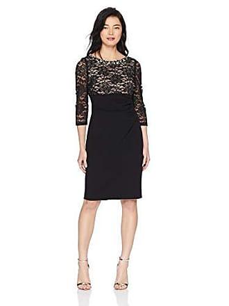 e36c943f831 Jessica Howard Womens Petite Beaded Neck Empire Waist Side Tucked Sheath  Dress