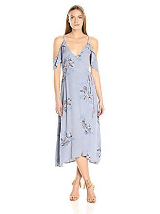 ASTR the Label Womens Gwyn Floral Print Cold Shoulder Midi Dress c585e36e4