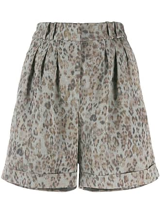 Iro leopard print bermuda shorts - Grey
