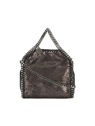 67c88abd1e Stella McCartney Mini Metallic Pewter Falabella shoulder bag
