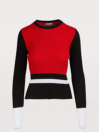 Red Valentino Ribbed cotton sweater