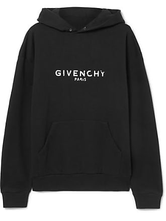 Givenchy Distressed Printed Cotton-jersey Hoodie - Black 2ebef8353553