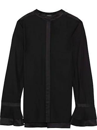 e6d4f532f0cf5a Elie Tahari Elie Tahari Woman Silk Crepe-satin Blouse Black Size XL