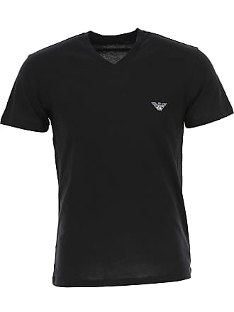 Emporio Armani T-Shirt for Men, Black, Cotton, 2017, M (EU 4) S (EU 46) M (EU 48) L (EU 50) XL (EU 52)