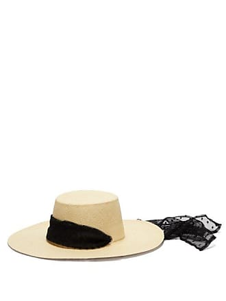 6829d9399bbfb Sensi Studio Cordovez Swiss Dot Tulle Trimmed Hat - Womens - Ivory