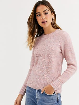 Oasis Rosa Pullover mit Knötchenmuster