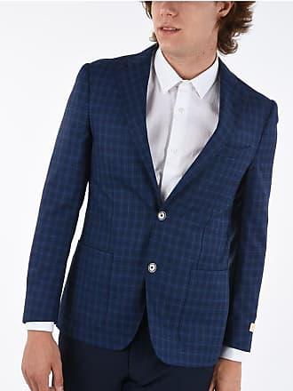 Corneliani giacca a 2 bottoni EASY district check in lana super 130s taglia 46