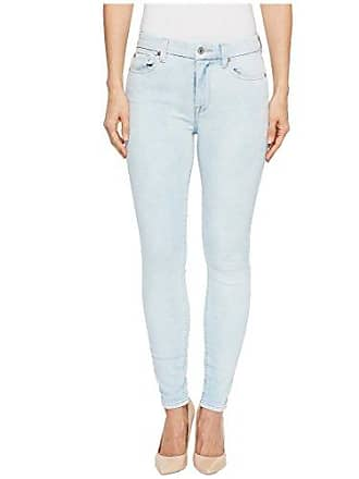 7 For All Mankind Womens High Waist Ankle Skinny with Extreme Grinded Hem, Bleached Out, 29
