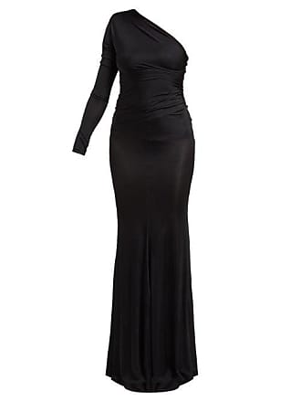 c578fbb2 Alexandre Vauthier One Shoulder Ruched Fishtail Hem Dress - Womens - Black