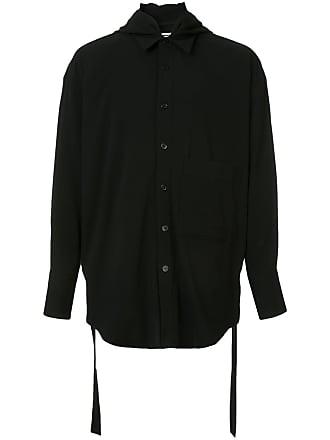Wooyoungmi Camisa com detalhe de capuz - Preto