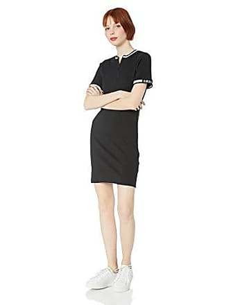 Obey Juniors Northbrook Fitted SL Dress, Black, X-Large