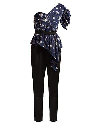 Self Portrait Star Studded Jumpsuit - Womens - Navy