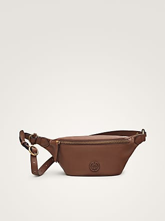 MASSIMO DUTTI NAPPA LEATHER BELT BAG WITH LOGO