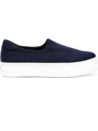 Opening Ceremony Opening Ceremony Woman Cici Twill Platform Slip-on Sneakers Navy Size 35
