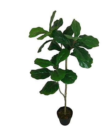 A & B Home Potted Single Trunk Artificial Fiddle Leaf Tree - F4538