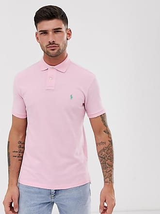 7d4fab2414cc41 Polo Ralph Lauren washed pique polo slim fit player logo in light pink -  Pink