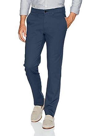 Haggar Mens Coastal Comfort Slim Fit Superflex Waist Flat Front Pant, Blue, 32Wx30L