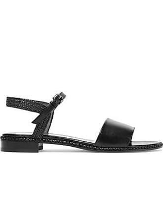 9ca929dda86e4d Stuart Weitzman Stuart Weitzman Woman Braided And Smooth Leather Sandals  Black Size 38.5