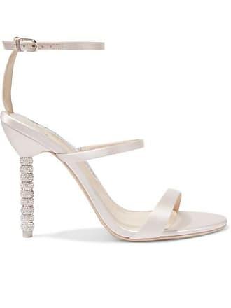 12d6c0e0250 Sophia Webster Rosalind Crystal-embellished Satin Sandals - Ivory