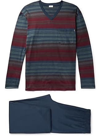 Zimmerli Cotton-jersey Pyjama Set - Blue