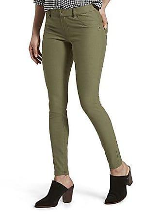 Hue Womens Essential Denim Leggings, burnt olive, XS
