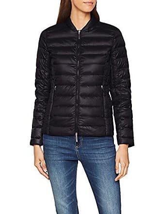 A|X Armani Exchange Womens Zip Up Fitted Down Jacket, Black, XL