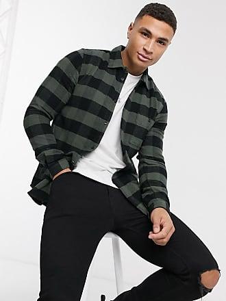 Dr. Denim Chris regular check shirt-Black