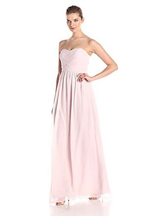 c61a20f6457a1 Donna Morgan Womens Stephanie Long Strapless Chiffon Dress, Palest Pink, 2
