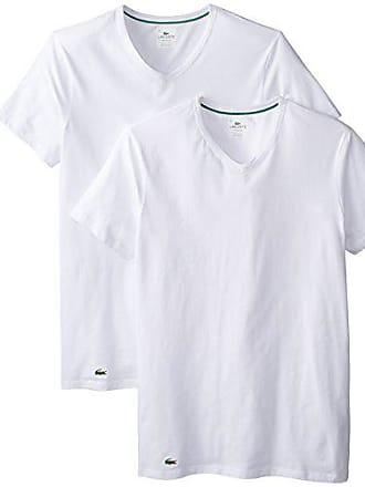 1e1f89bd3c7bc Lacoste Mens 2-Pack Colours Cotton Stretch V-Neck T-Shirt